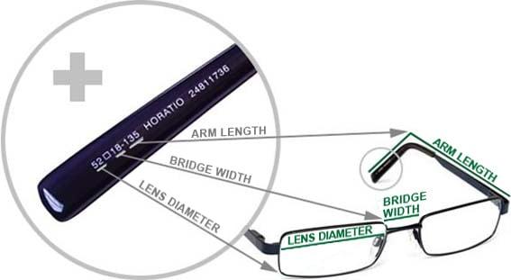 74a9ba273b80 Frame measurements | Specsavers Australia