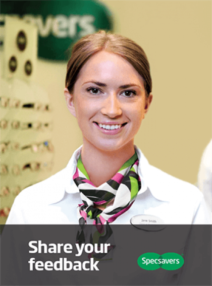 Specsavers team member smiling
