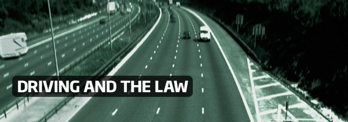 Driving and the law top banner